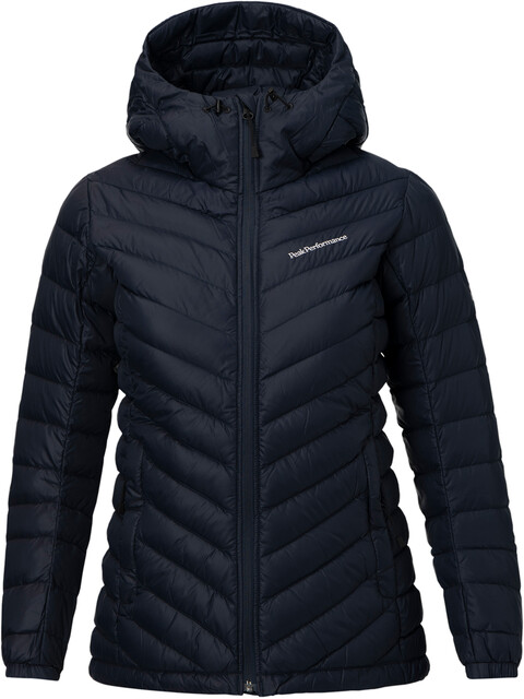 Peak Performance Frost Down Hooded Jas Dames blauw